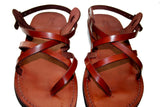 Grey Triple Handmade Leather Sandals for Men, Women & Children