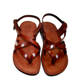 Brown Mix Leather Handmade Sandals - Jesus Sandals, Unisex Sandals, Flip Flop Sandals, Flat Leather Sandals, Genuine Leather Sandals - Sandali_Sandals