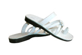 White Flower Cross Handmade Leather Sandals for Men, Women & Children - Sandali_Sandals