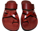 Brown Bath Leather Handmade Sandals - Jesus Sandals, Unisex Sandals, Flip Flop Sandals, Flat Leather Sandals, Genuine Leather Sandals - Sandali_Sandals