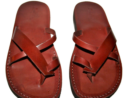 Brown Tropide Handmade Leather Sandals for Men, Women & Children - Sandali_Sandals