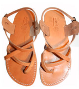 Leather Sandals - Brown Triple Handmade Leather Sandals for Men &  Women