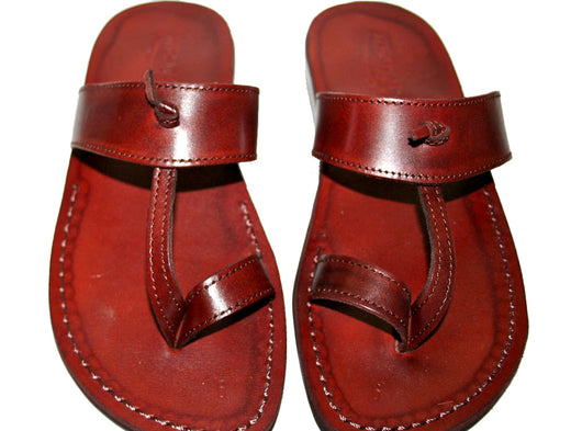 Brown Twizzle Leather Handmade Sandals - Jesus Sandals, Unisex Sandals, Flip Flop Sandals, Flat Leather Sandals, Genuine Leather Sandals - Sandali_Sandals