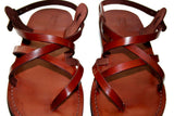 Children Leather Sandals for Boys & Girls - Triple Design - Handmade Toddler Jesus Sandals