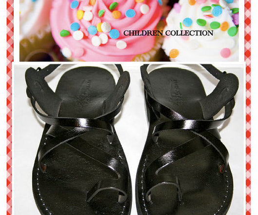 Children Leather Sandals for Boys & Girls - Roxy Design - Handmade Toddler Jesus Sandals - Sandali_Sandals