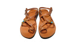 Caramel Decor Roxy Leather Handmade Sandals - Jesus Sandals, Unisex Sandals, Flip Flop Sandals, Flat Leather Sandals, Genuine Leather Sandals - Sandali_Sandals