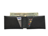 Leather Wallet - Green Leather Slit Wallet Coin Money Purse for Men & Women