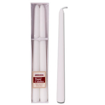 (2) White Taper Candles