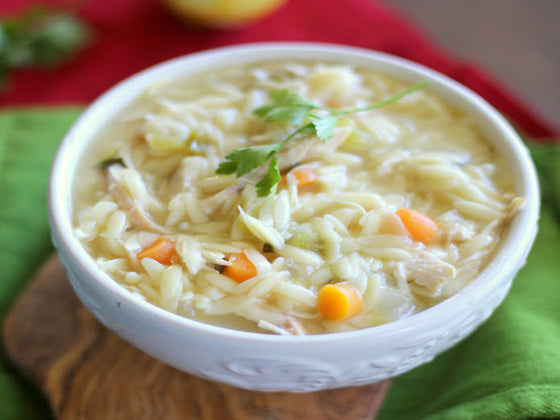 Roasted Chicken and Orzo Soup