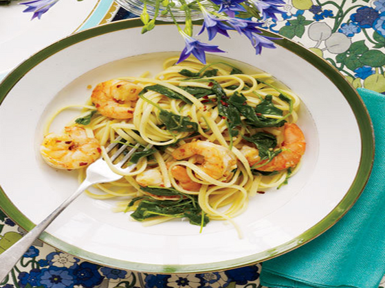 Linguini with Savory Shrimp