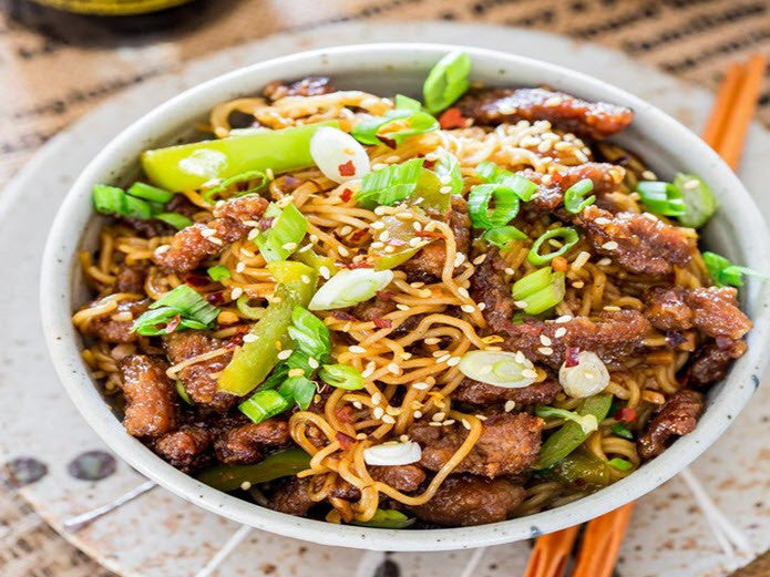 Korean BBQ Beef and Ramen Bowl