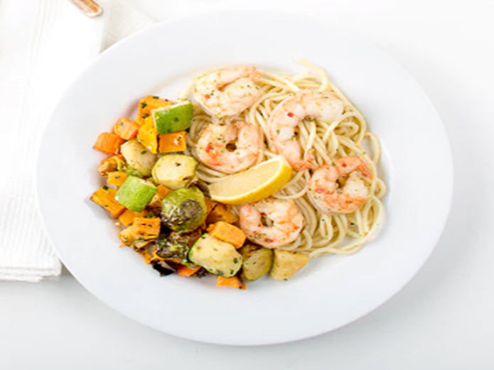 Grilled Lemon Garlic Shrimp Scampi