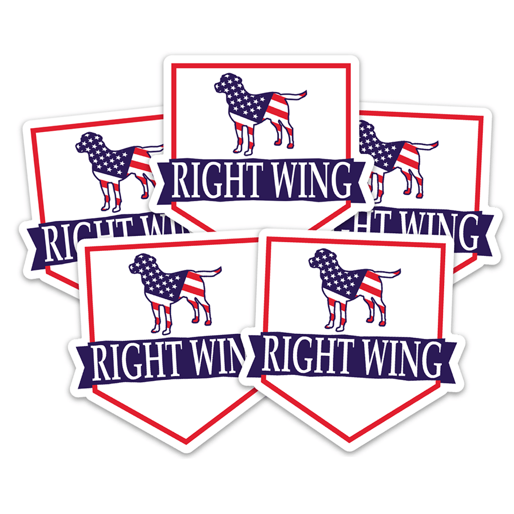 Right Wing Crest 5-Pack Stickers