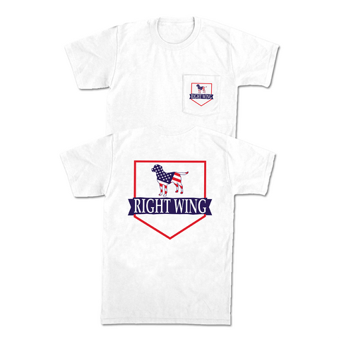 Right Wing USA Crest Pocket Tee (White)
