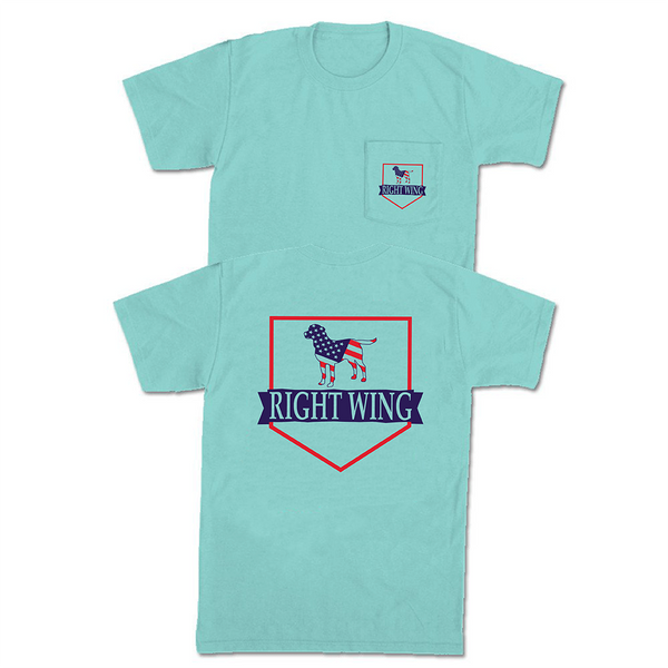 Right Wing USA Crest Pocket Tee (Chalky Mint)