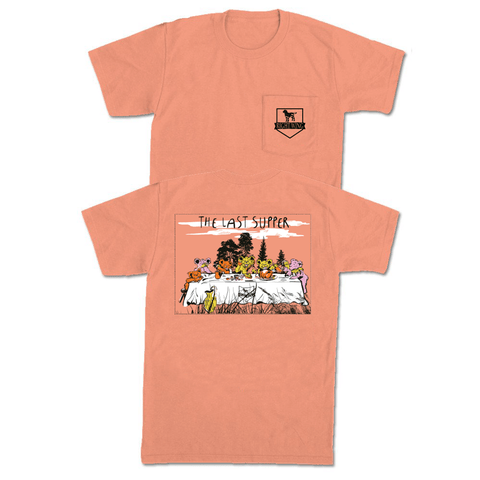 The Last Supper Pocket Tee - Melon