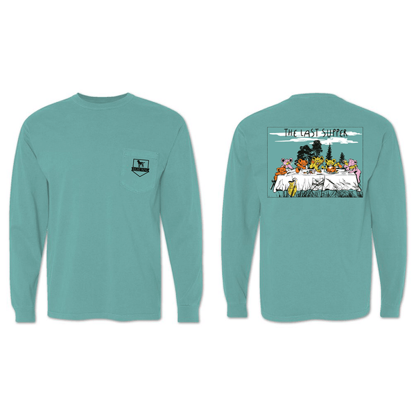 The Last Supper Long Sleeve Pocket Tee - Seafoam