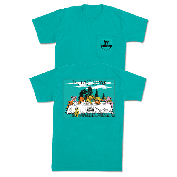 The Last Supper Pocket Tee - Seafoam