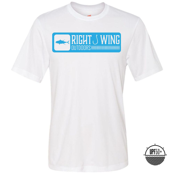 Right Wing Outdoors Ahi Sun Shirt - White/Blue