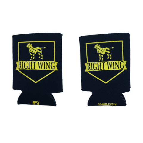 Right Wing University Koozie (Black w/ Gold)