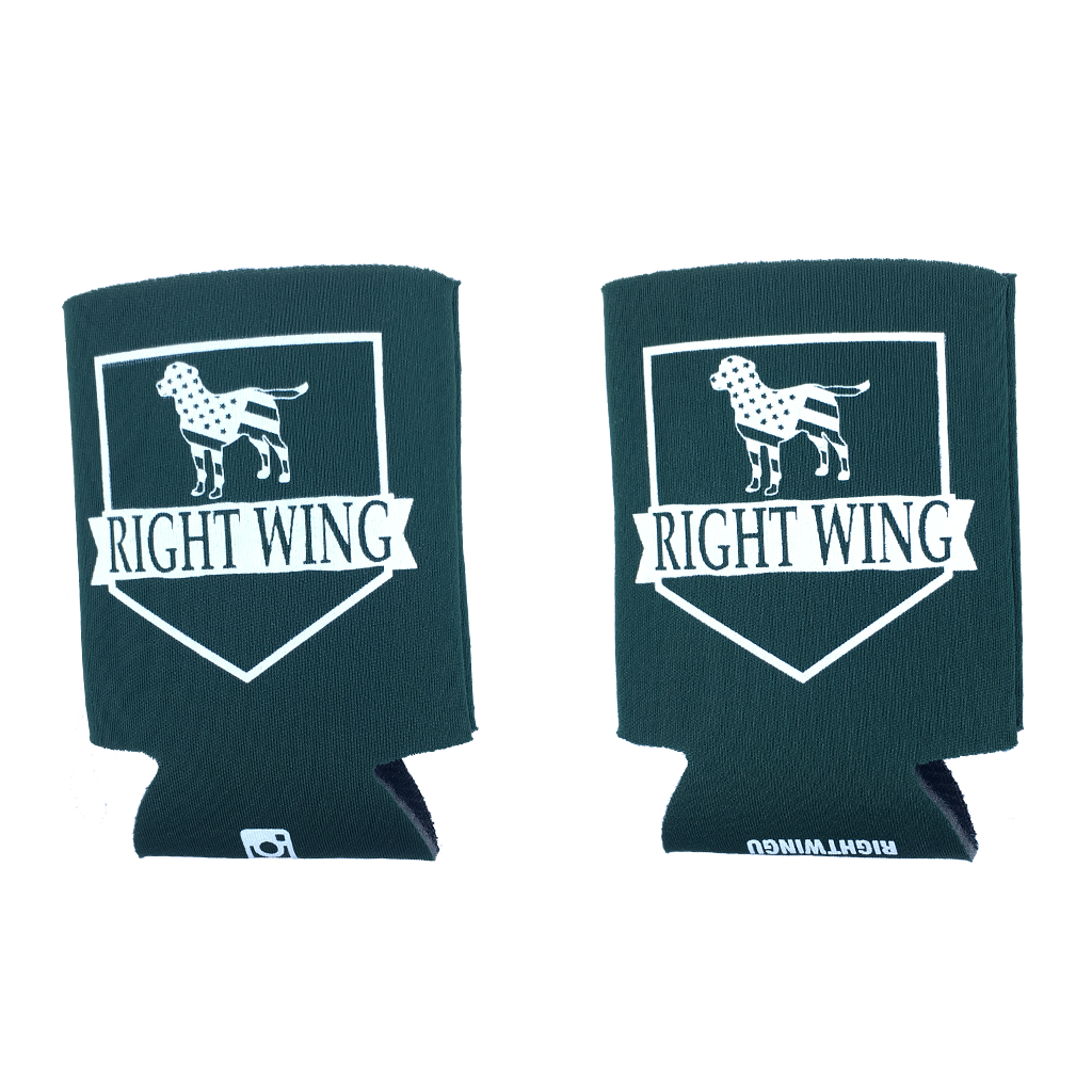 Right Wing University Koozie (Forest w/ White)