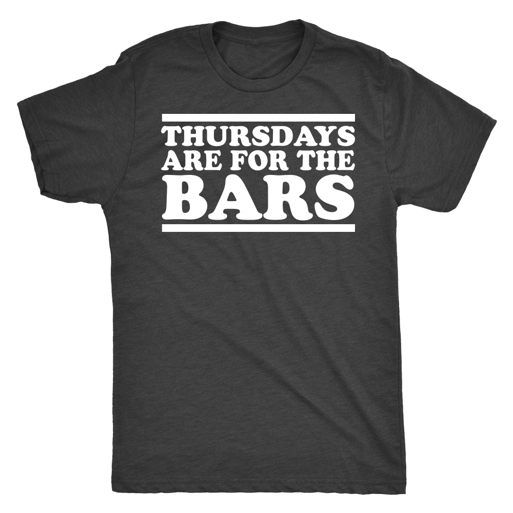 Thursdays Are For The Bars Text Tee - Vintage Black