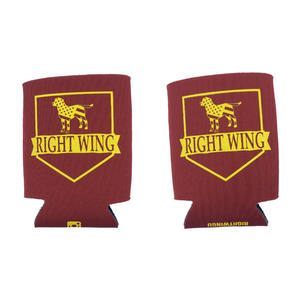 Right Wing University Koozie (Garnet w/ Gold)