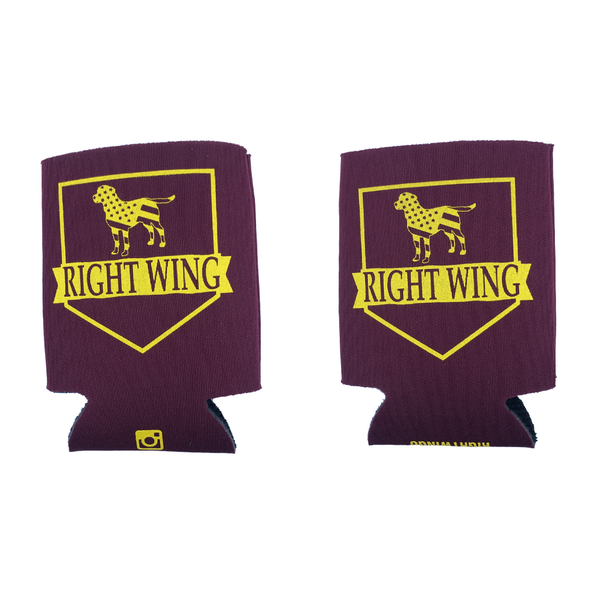 Right Wing University Koozie (Maroon w/ Gold)