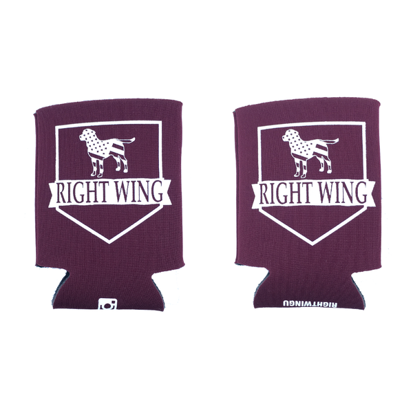 Right Wing University Koozie (Maroon)