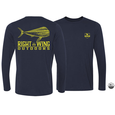 Right Wing Outdoors Mahi Long Sleeve Sun Shirt - Navy