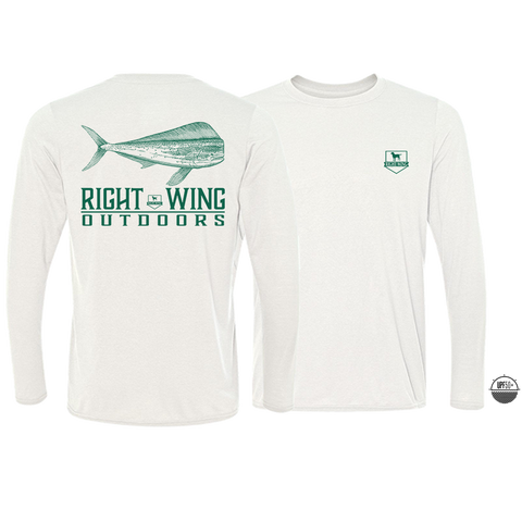 Right Wing Outdoors Mahi Long Sleeve Sun Shirt - White