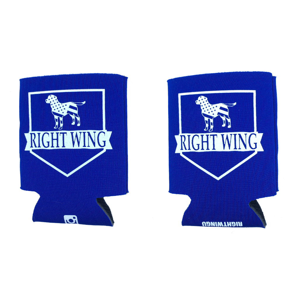 Right Wing University Koozie (Royal w/ White)