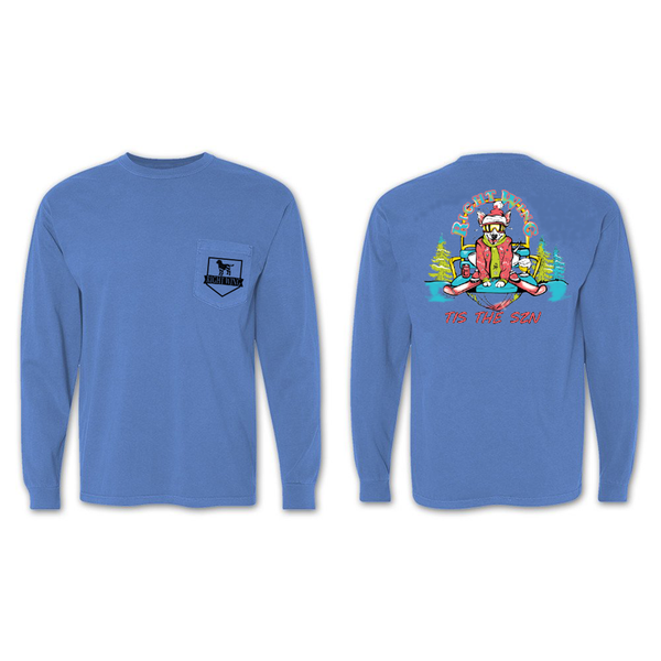 Ski Patrol Long Sleeve Pocket Tee (Blue)