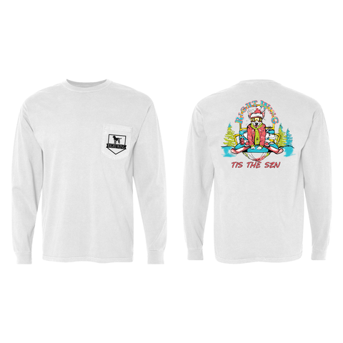 Ski Patrol Long Sleeve Pocket Tee (White)