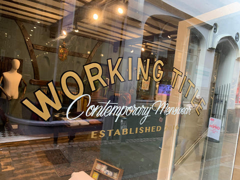 Working Title Menswear Norwich
