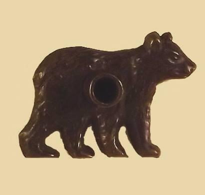 Paine Products Brass Bear Flat Incense Holder with 10 Balsam Logs , Incense Burner, Paine, Working Title