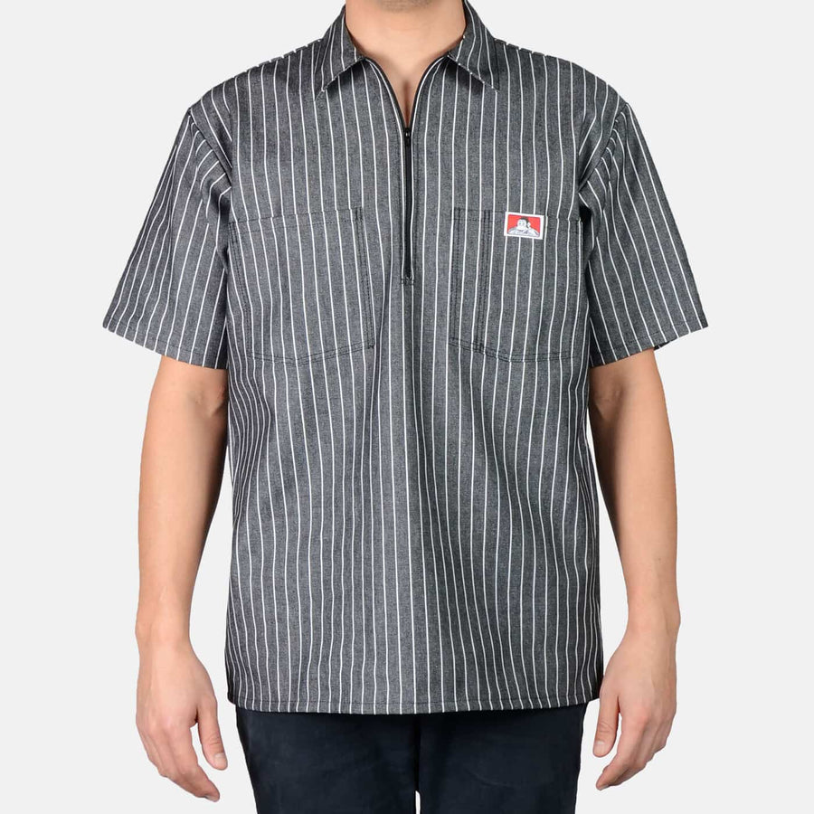 Ben Davis S/S Black Butcher Block Stripe Shirt , Shirts, Ben Davis, Working Title