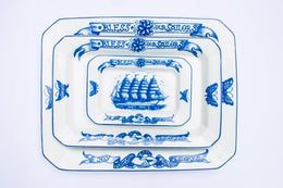 By Mutti Bless Our Sailors Middle 34cm Platter , Ceramics, By Mutti, Working Title
