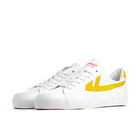 Warrior Shanghai White & Yellow Iconic Chinese Basketball Classic Trainer , Trainers, Warrior Shanghai, Working Title