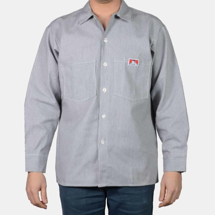 Ben Davis L/S Button Up Hickory Stripe Shirt , Shirts, Ben Davis, Working Title