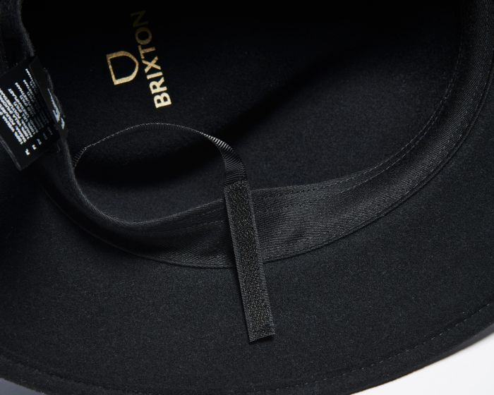 Brixton Wesley Packable Fedora - Black