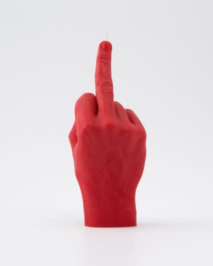 Candle Hand FCUK You Red Hand Gesture candle