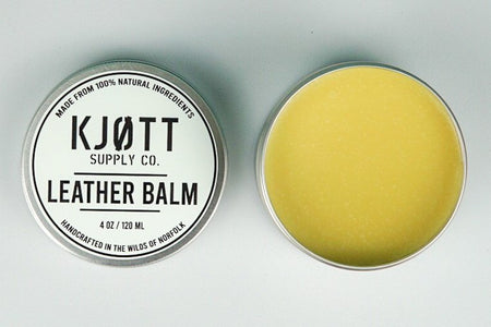 Kjøtt Supply Co. Leather Balm 4oz , Leather Balm, Kjøtt Supply Co., Working Title