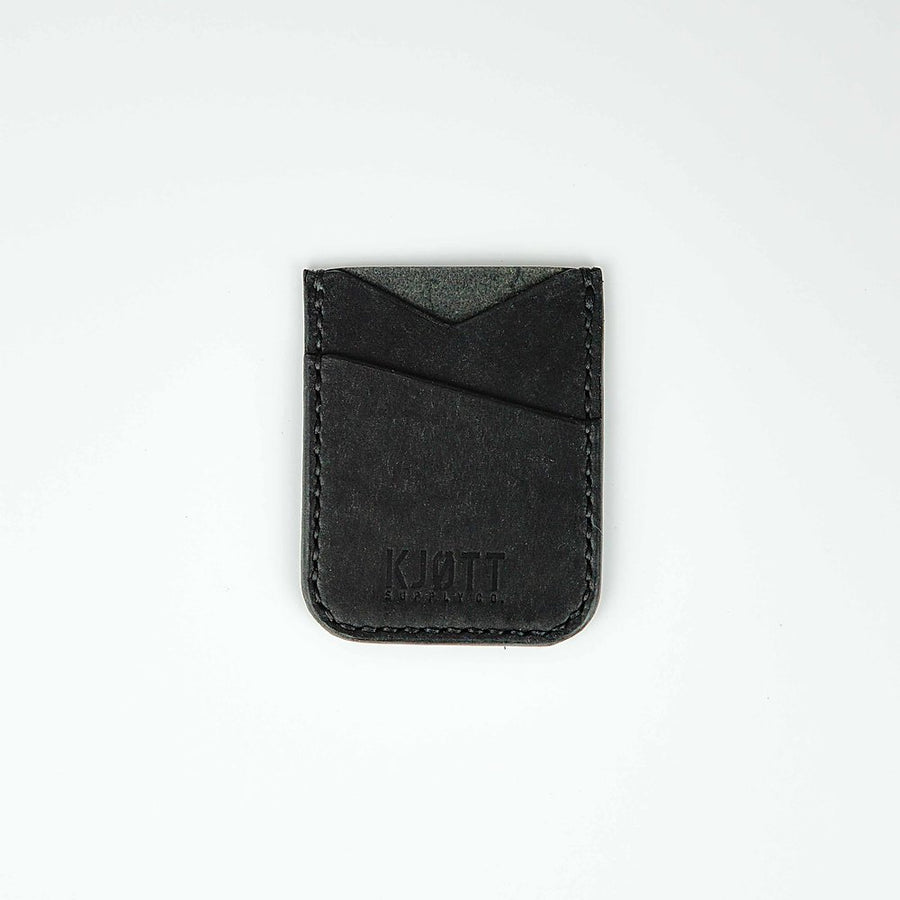 Kjøtt Supply Co. Vertical Minimalist Pueblo Nero Card Holder Stacked Logo , Card Holder, Kjøtt Supply Co., Working Title