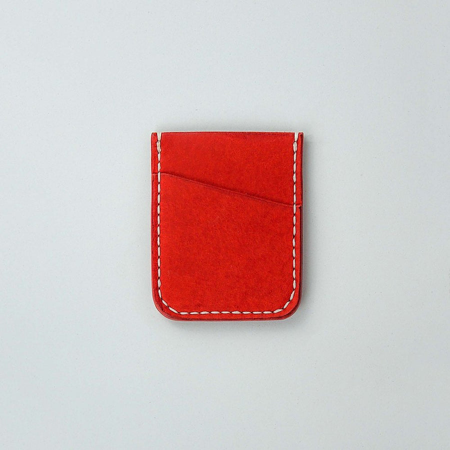 Kjøtt Supply Co. Vertical Minimalist Card Holder in Pueblo Papavero - Stacked logo , Card Holder, Kjøtt Supply Co., Working Title