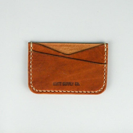 Kjøtt Supply Co. Horizontal Minimalist Card Holder - Horween Natural Thread , Card Holder, Kjøtt Supply Co., Working Title