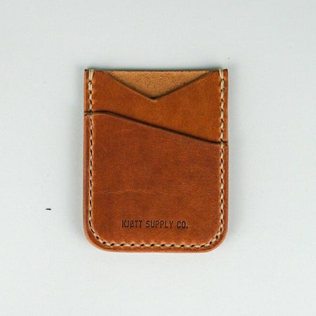 Kjøtt Supply Co. Vertical Minimalist Card Holder - Horween Natural Thread , Card Holder, Kjøtt Supply Co., Working Title