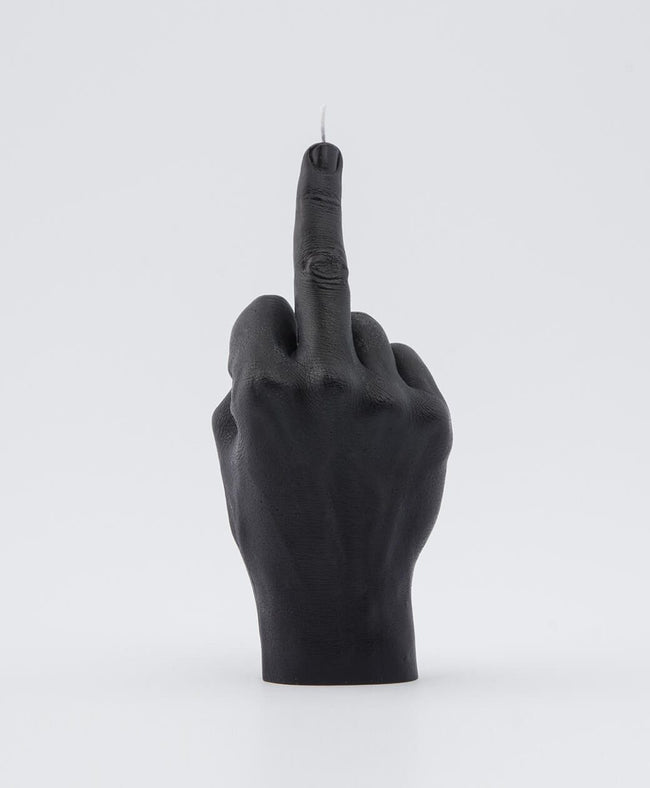 Candle Hand FCUK You Black Hand Gesture candle , Candles, Candle Hand, Working Title Clothing
