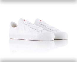 Warrior Shanghai White & White Iconic Chinese Basketball Classic Trainer , Trainers, Warrior Shanghai, Working Title