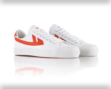 Warrior Shanghai White / Red Classic Trainer , Trainers, Warrior Shanghai, Working Title